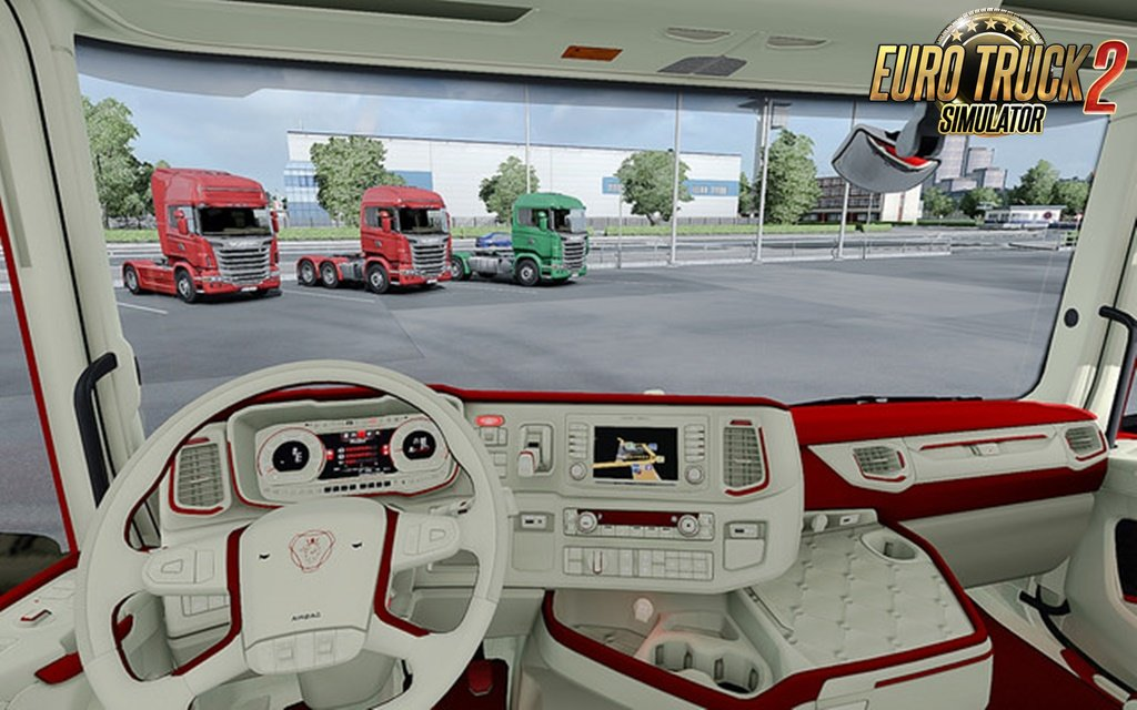 Scania 2016 S&R CMI Red Beige Interior