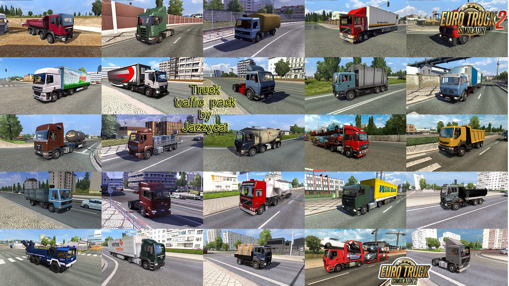 Truck Traffic Pack v4.6 by Jazzycat (1.37.x)