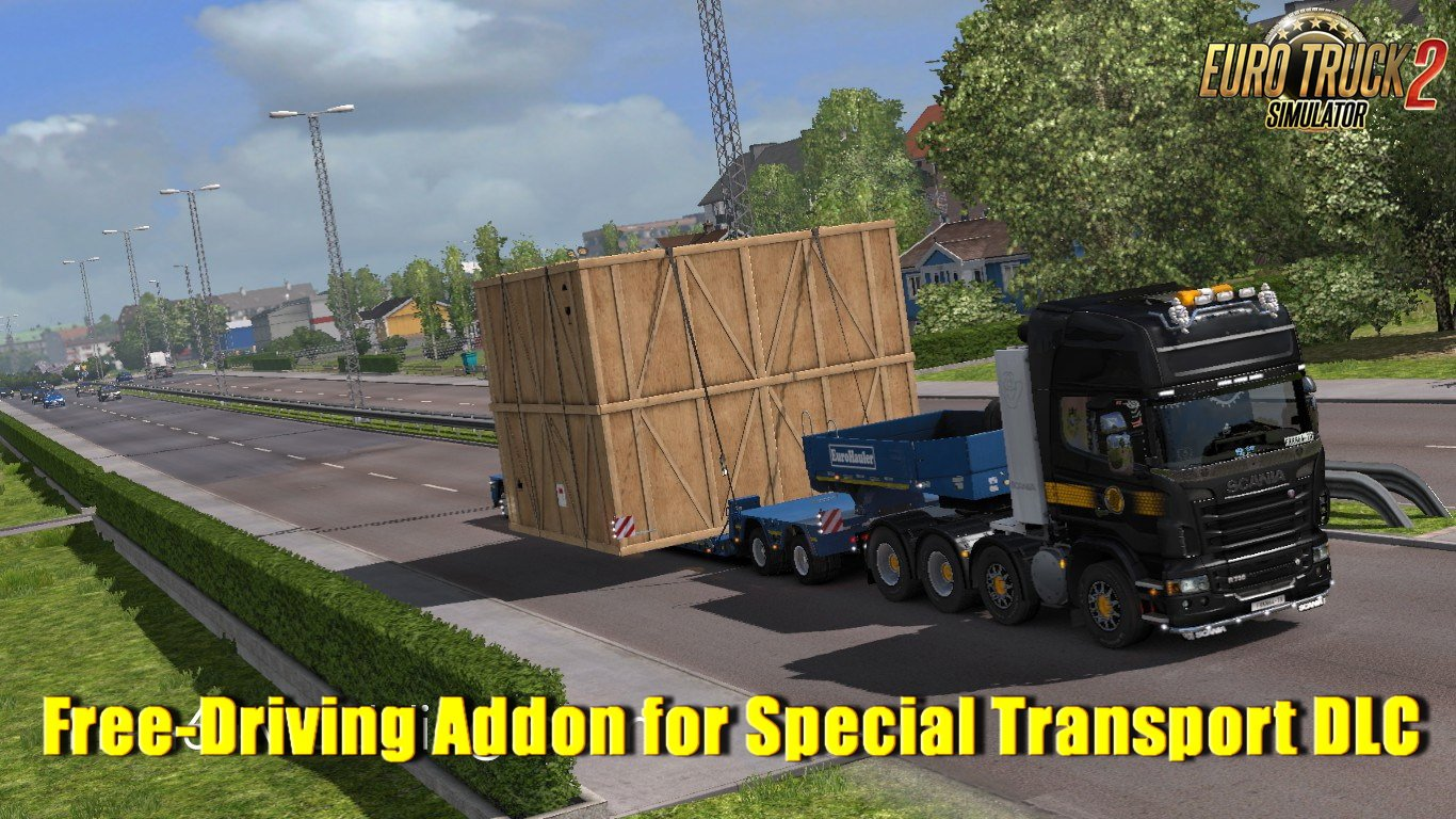 Free-Driving Addon for Special Transport DLC v0.2 by Frkn64 Modding (1.31.x)