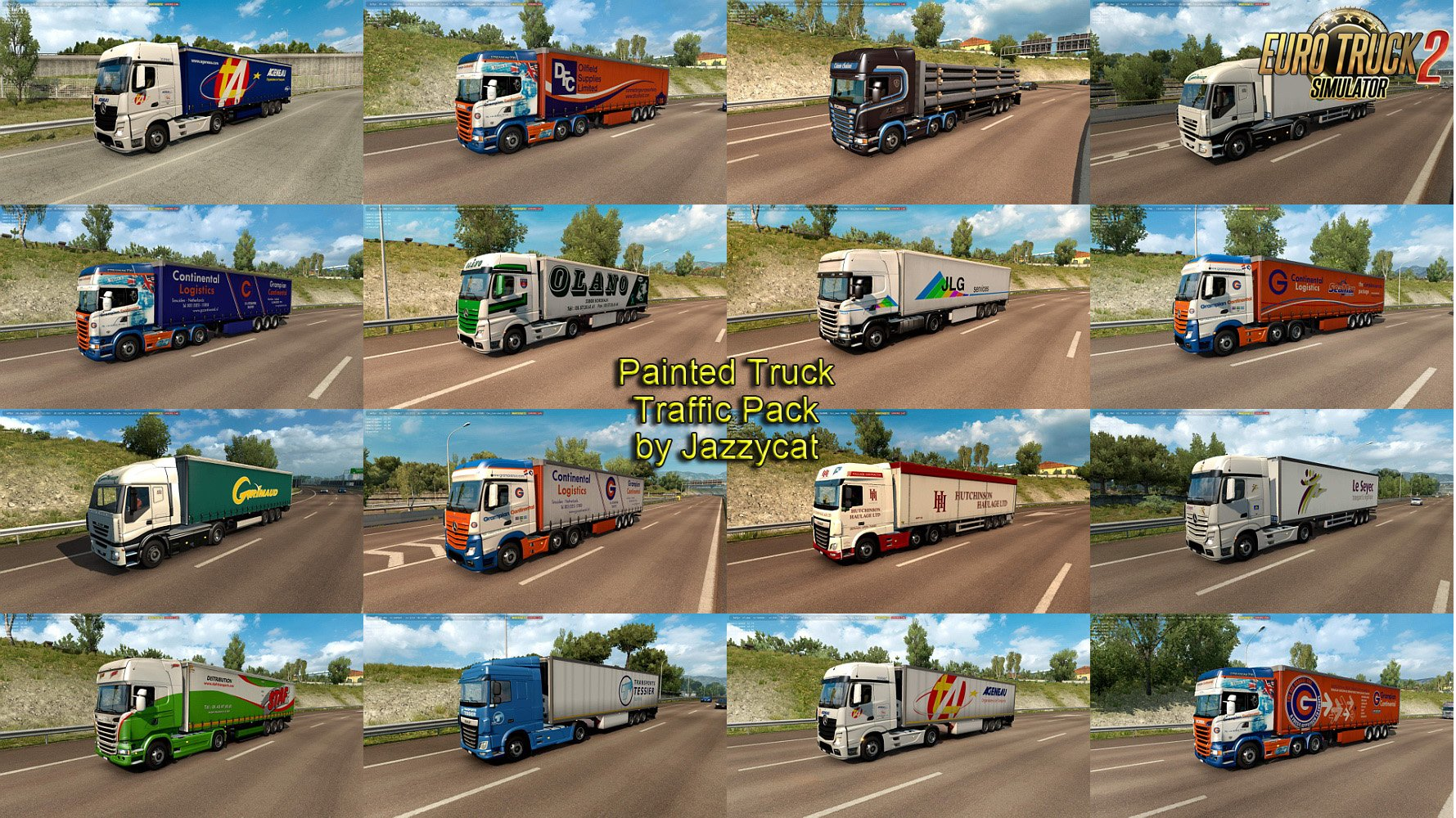 Painted Truck Traffic Pack v5.8.1 by Jazzycat
