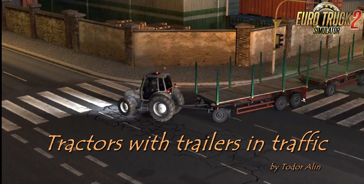 Tractor with trailers in traffic v1.13 by Todor Alin