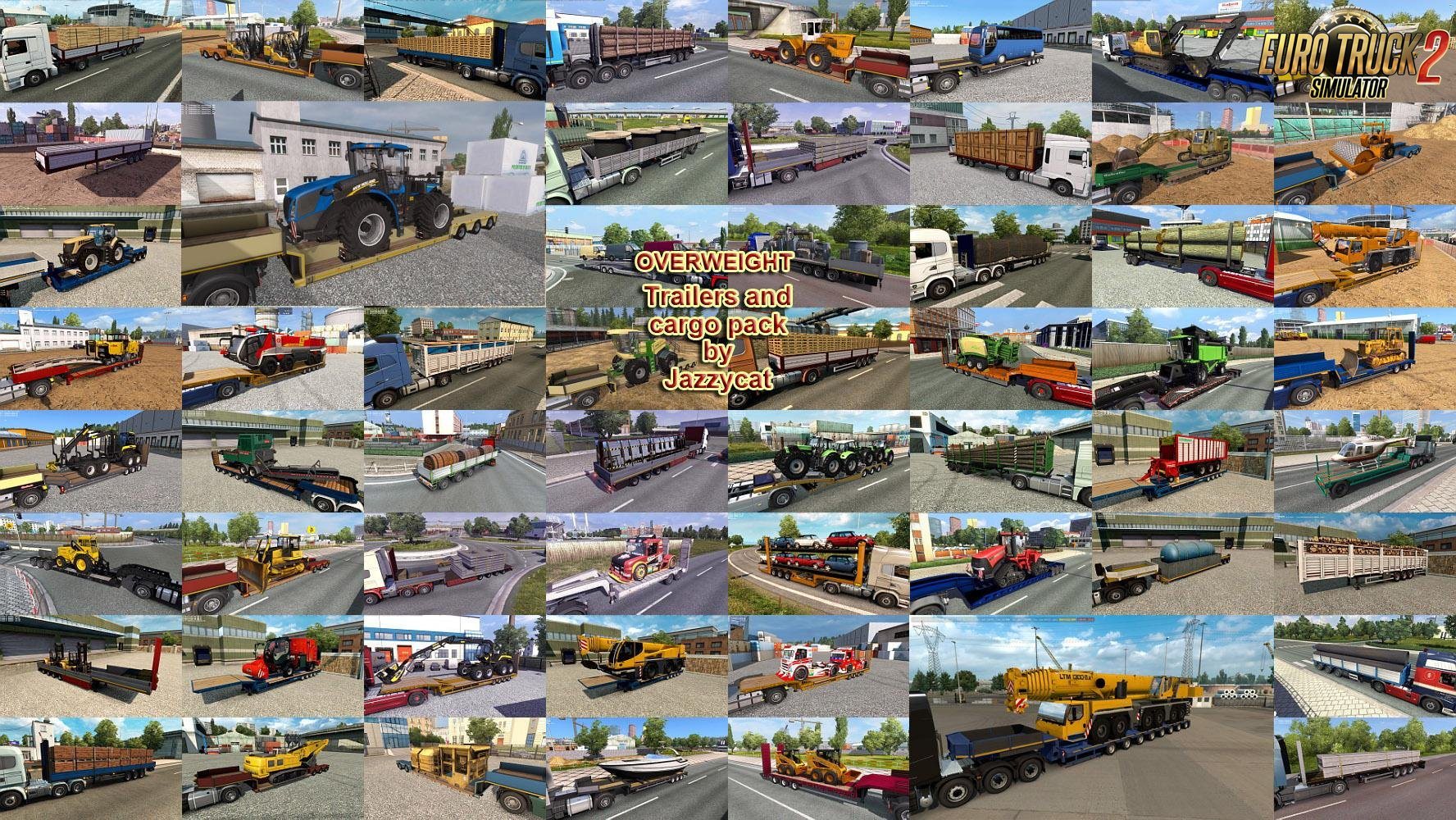 Overweight Trailers and Cargo Pack v7.0 by Jazzycat