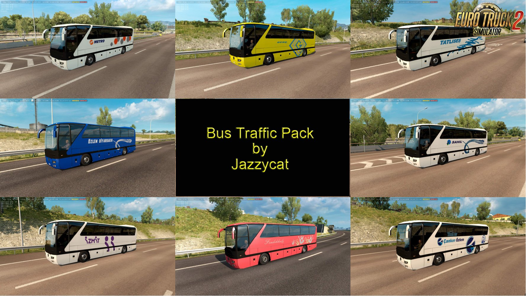 Bus Traffic Pack v4.5 by Jazzycat