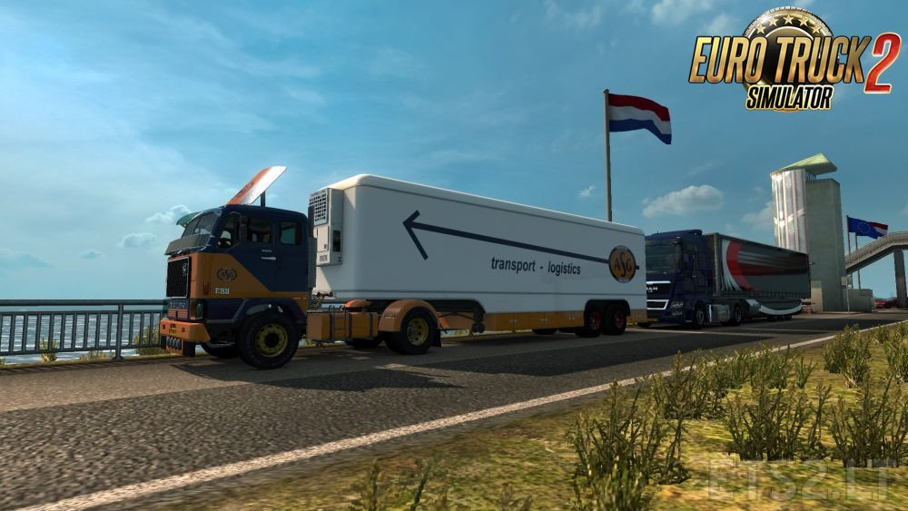 Trailer Kässbohrer v1.0 for Volvo F88 by XBS