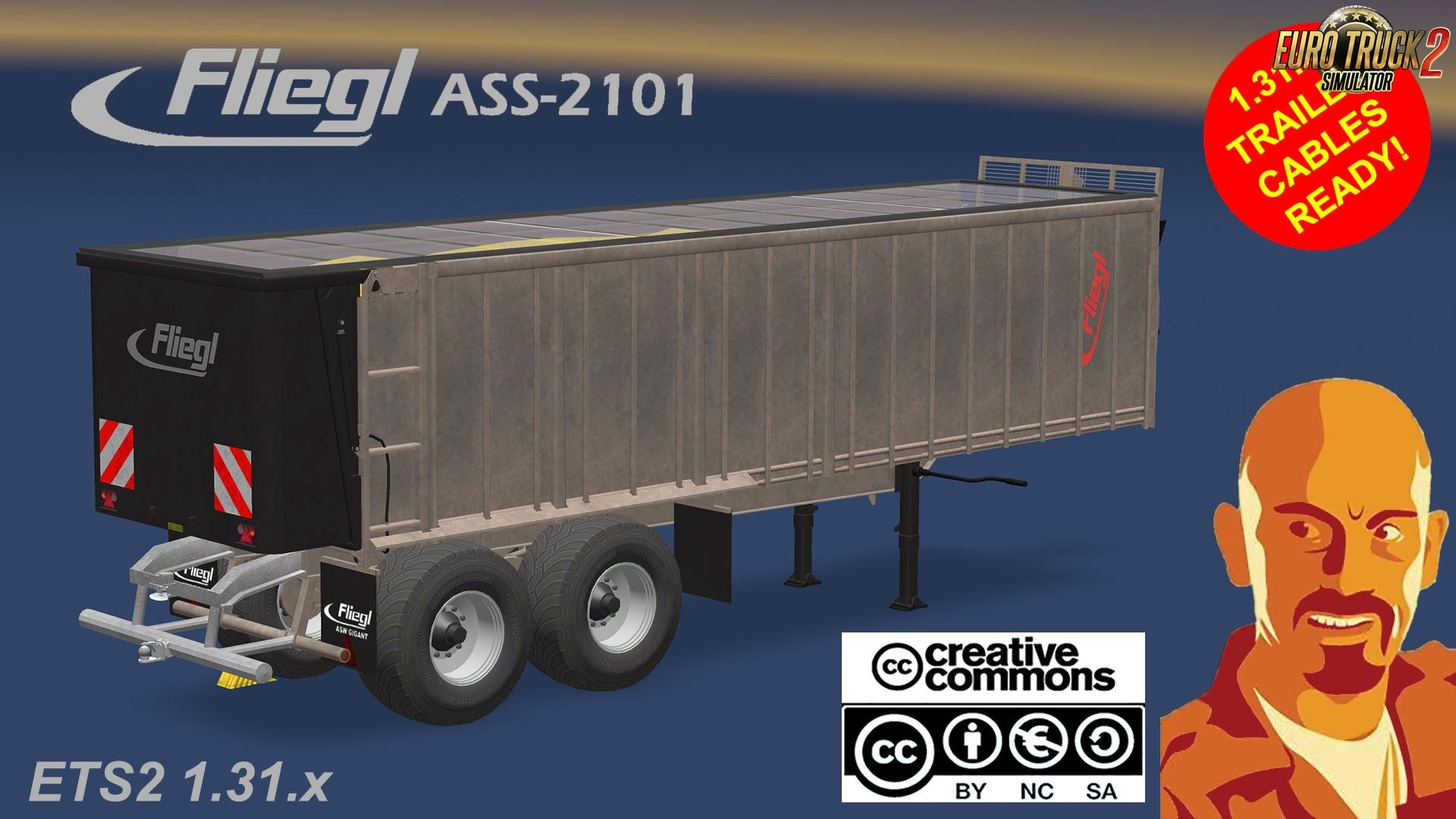 FLIEGL ASS 2101 Agrar Trailer for Ets2