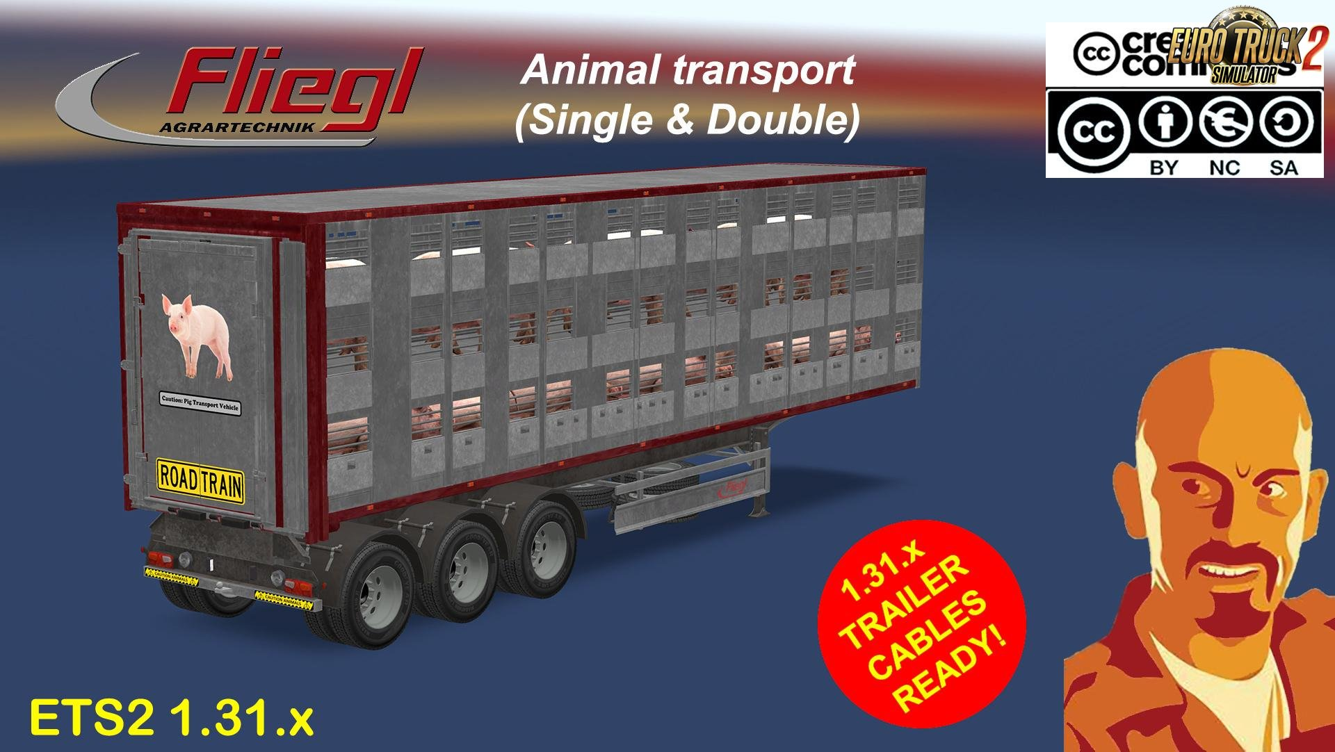 Fliegl Animals Trailer (Single & Double versions)