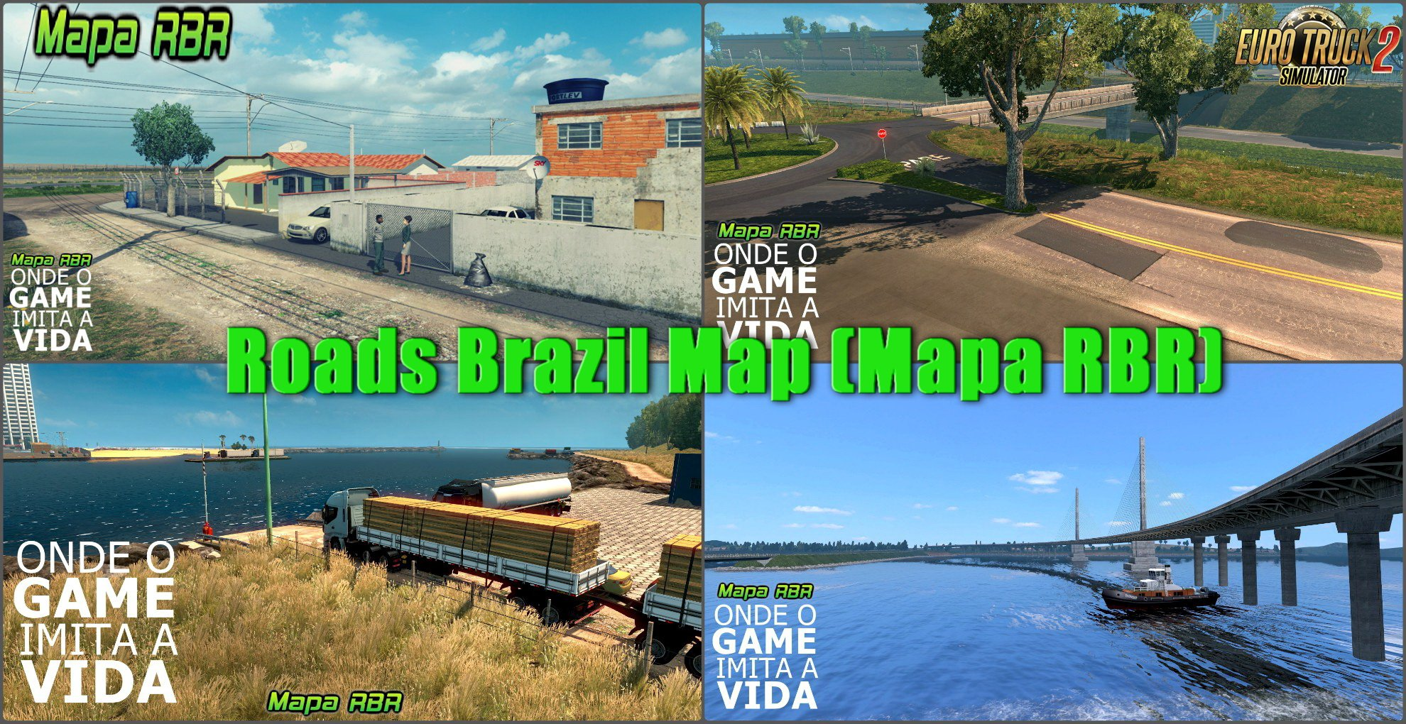 Roads Brazil Map (Mapa RBR) 4.1 by RBR Team (1.31.x)