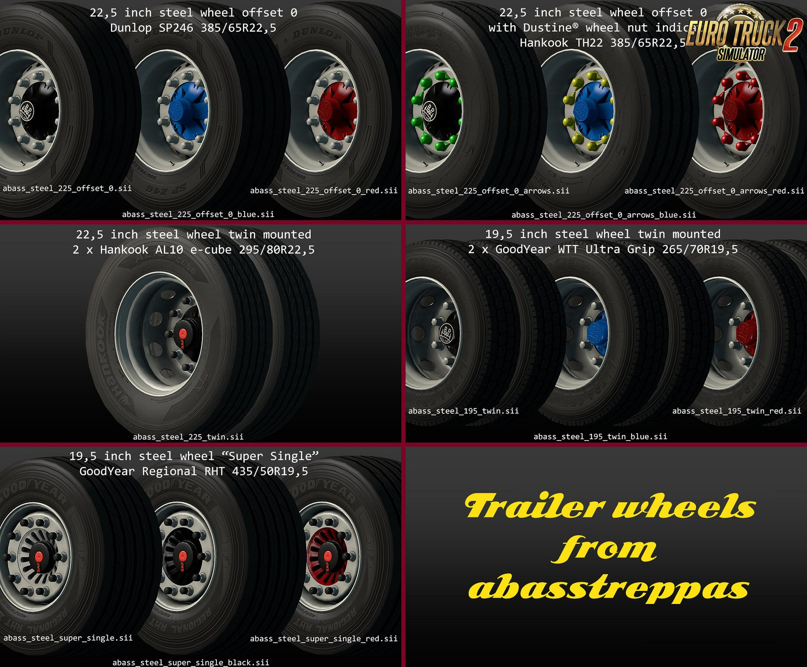 Trailer Wheels MegaPack v1.1 from abasstreppas