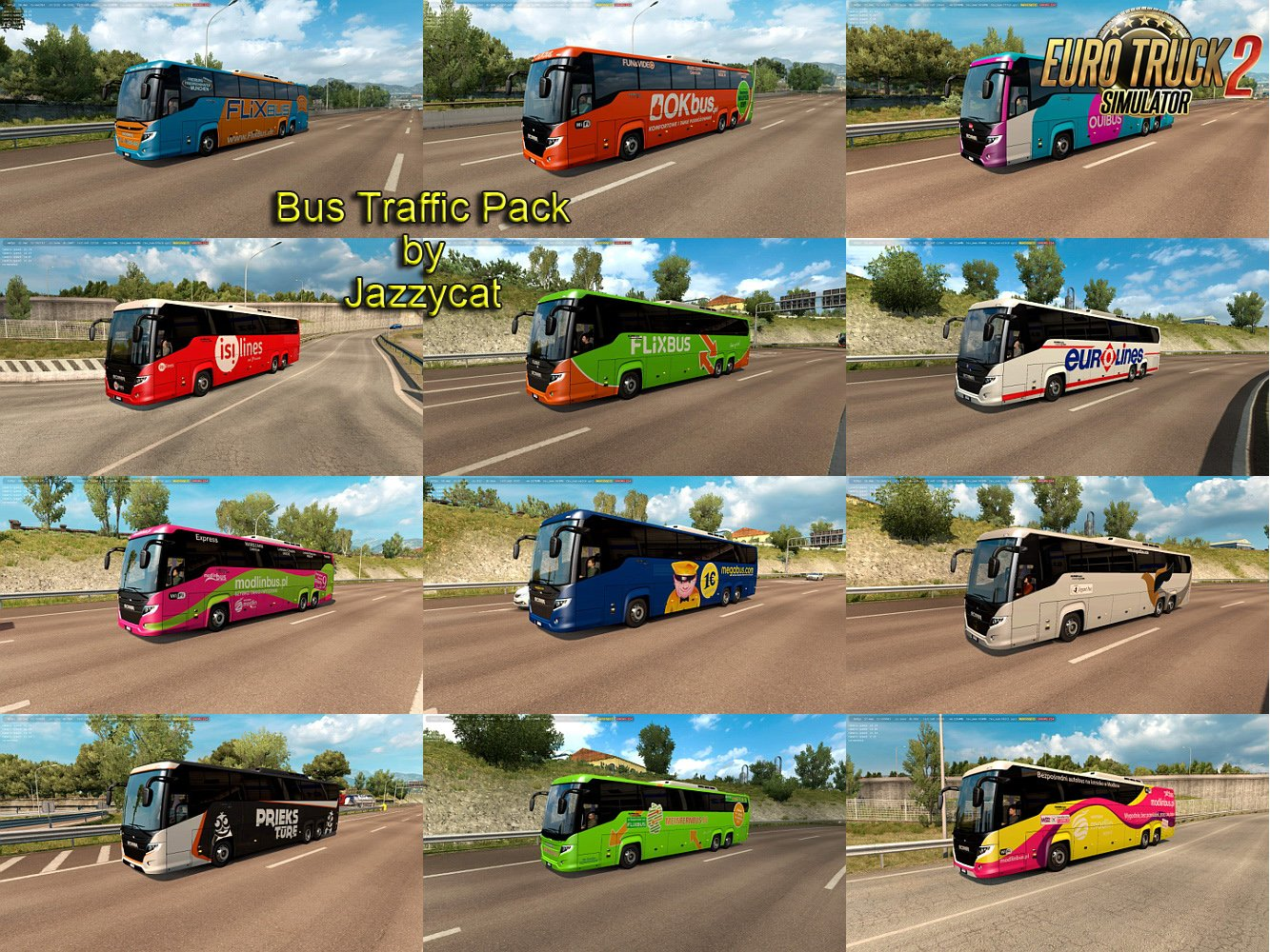 Bus Traffic Pack v4.7 by Jazzycat