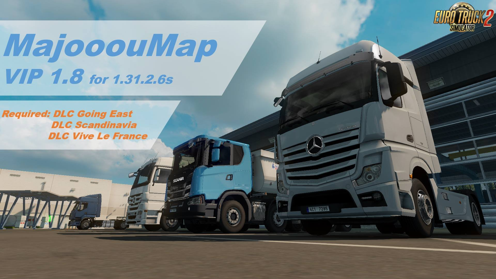 Czech Map/MajooouMap v1.8 (Free Demo): Real-scale map of Czech Republic (1.31.x)