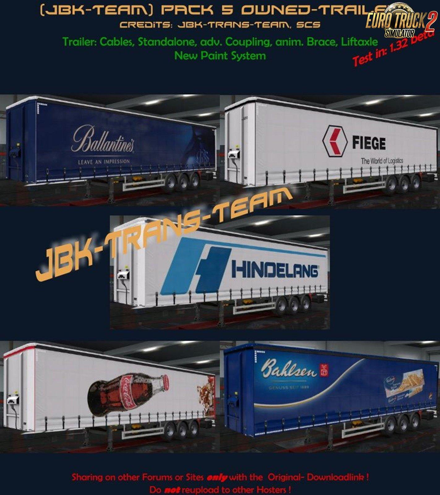 JBK Pack 5 Owned Trailer for Ets2