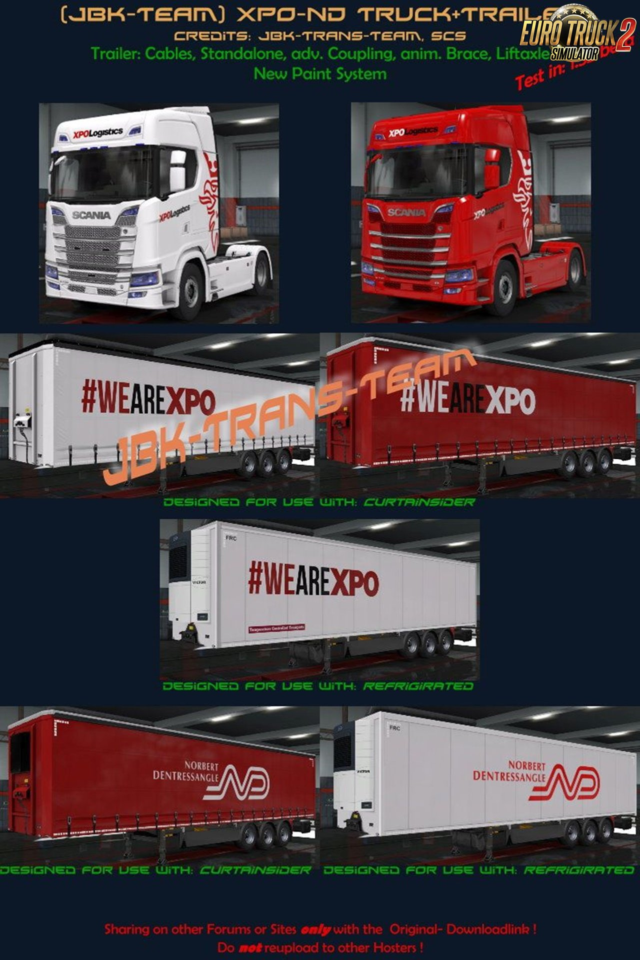 JBK XPO-ND Truck and Owned Trailer Pack for Ets2