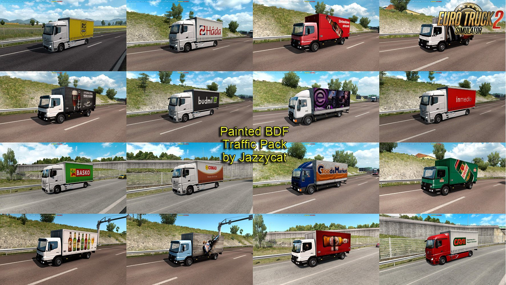Painted BDF Traffic Pack v3.5 by Jazzycat
