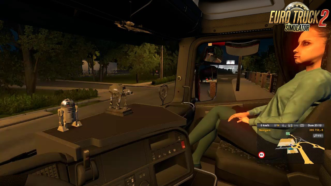 Animated female passenger in your truck