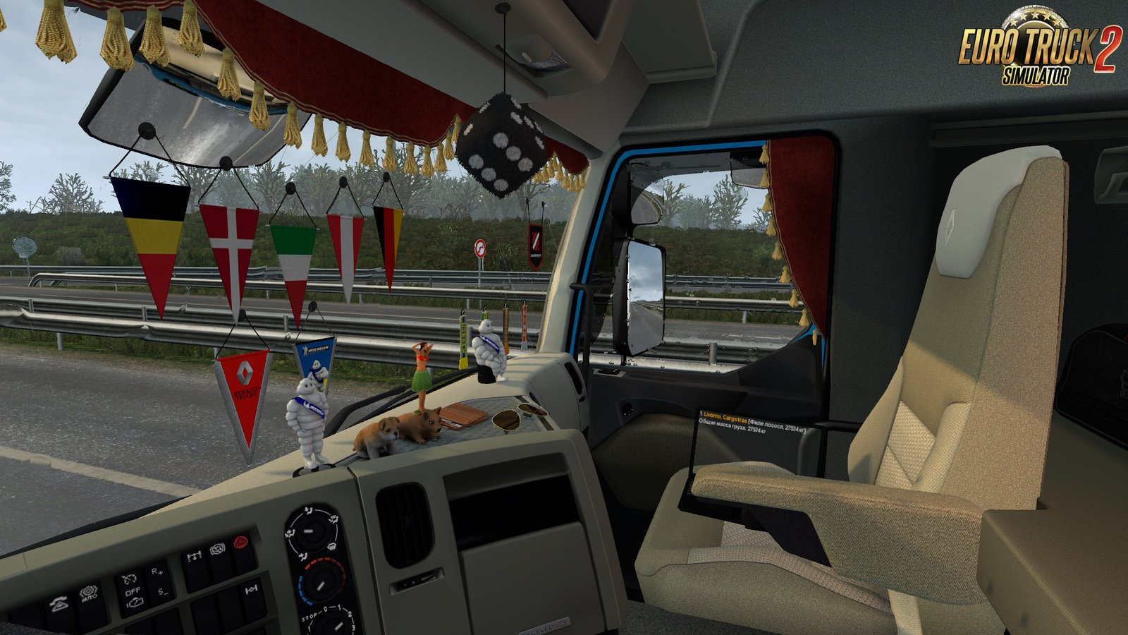 Side curtains for Renault Premium in Ets2