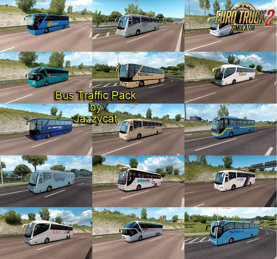 Bus Traffic Pack v5.0 by Jazzycat