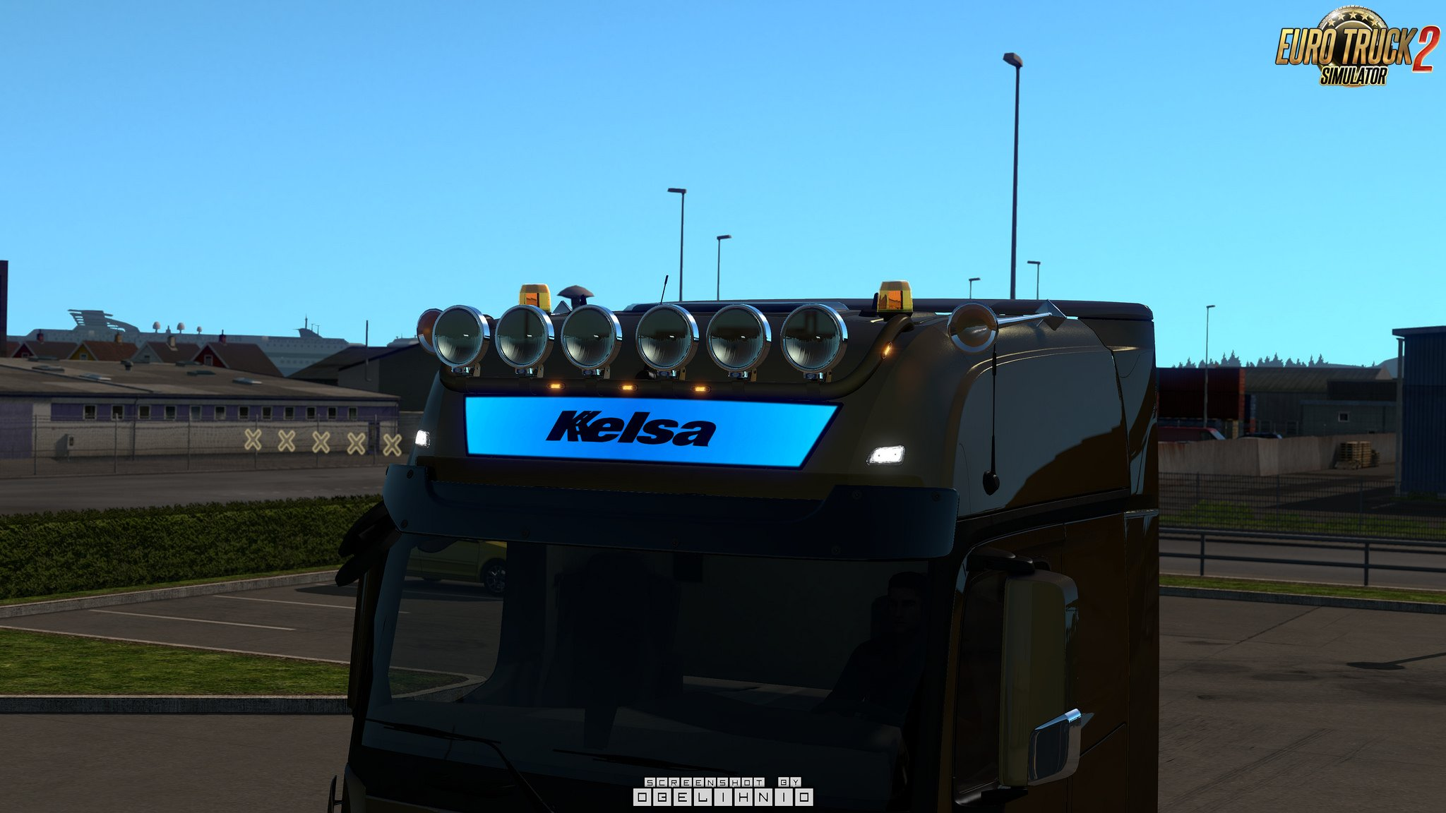 Kelsa lightbars for MB Actros MP3 & MP4 v1.02 for Ets2