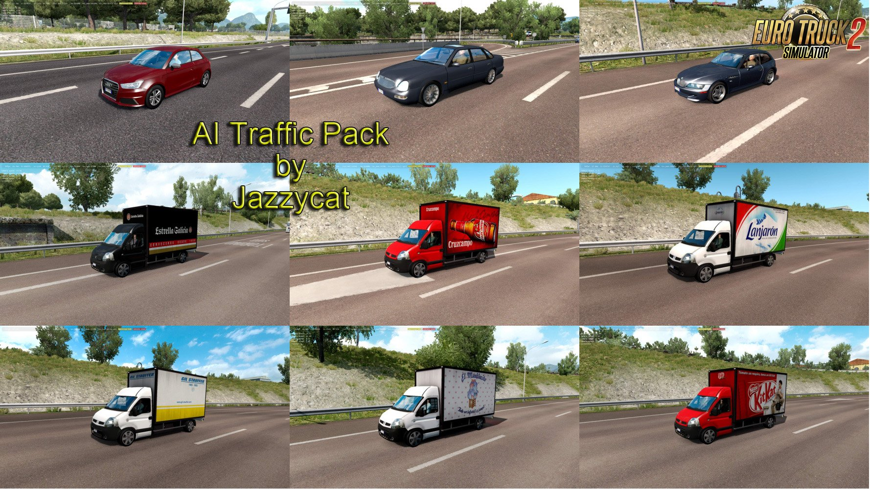 Ai Traffic Pack V8 3 By Jazzycat 187 Download Ets 2 Mods Truck Mods Euro Truck Simulator 2