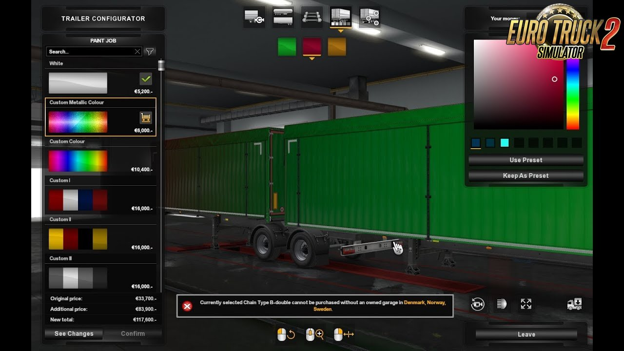Metallic paint for own trailers