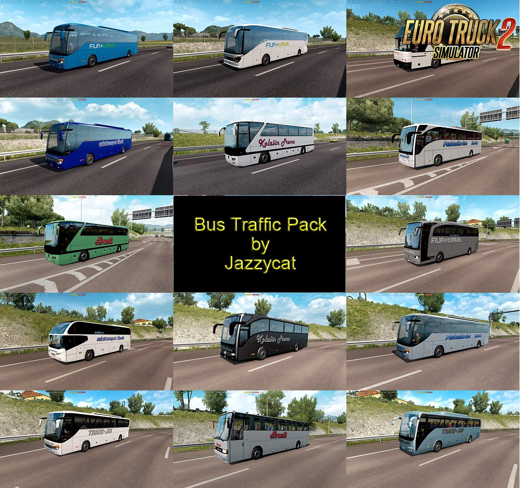 Bus Traffic Pack v5.1 by Jazzycat