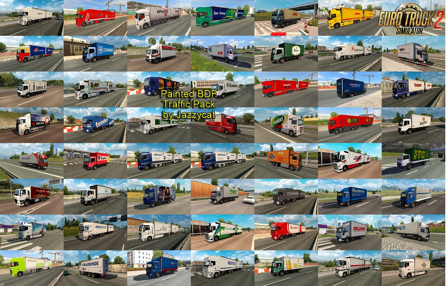 Painted BDF Traffic Pack v3.7 by Jazzycat