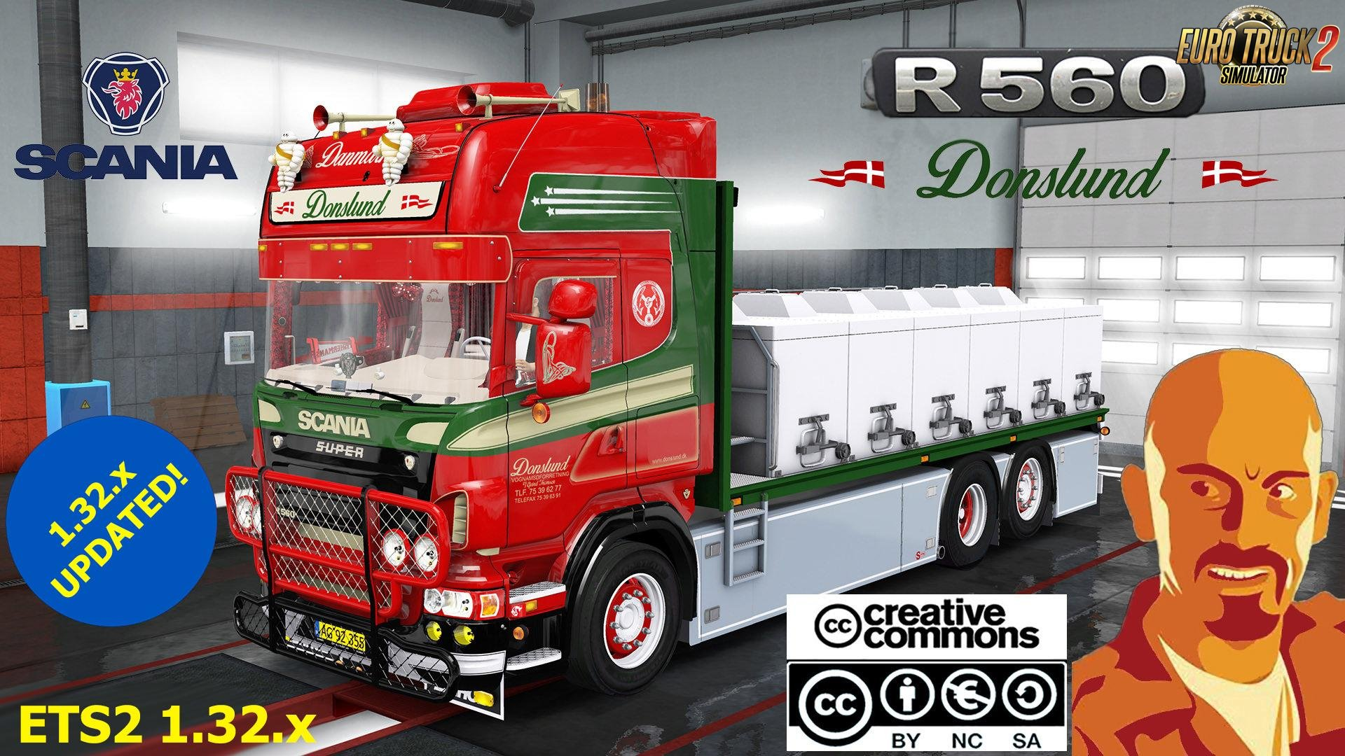 Scania Donslund and Trailer for Ets2 (1.32.x)