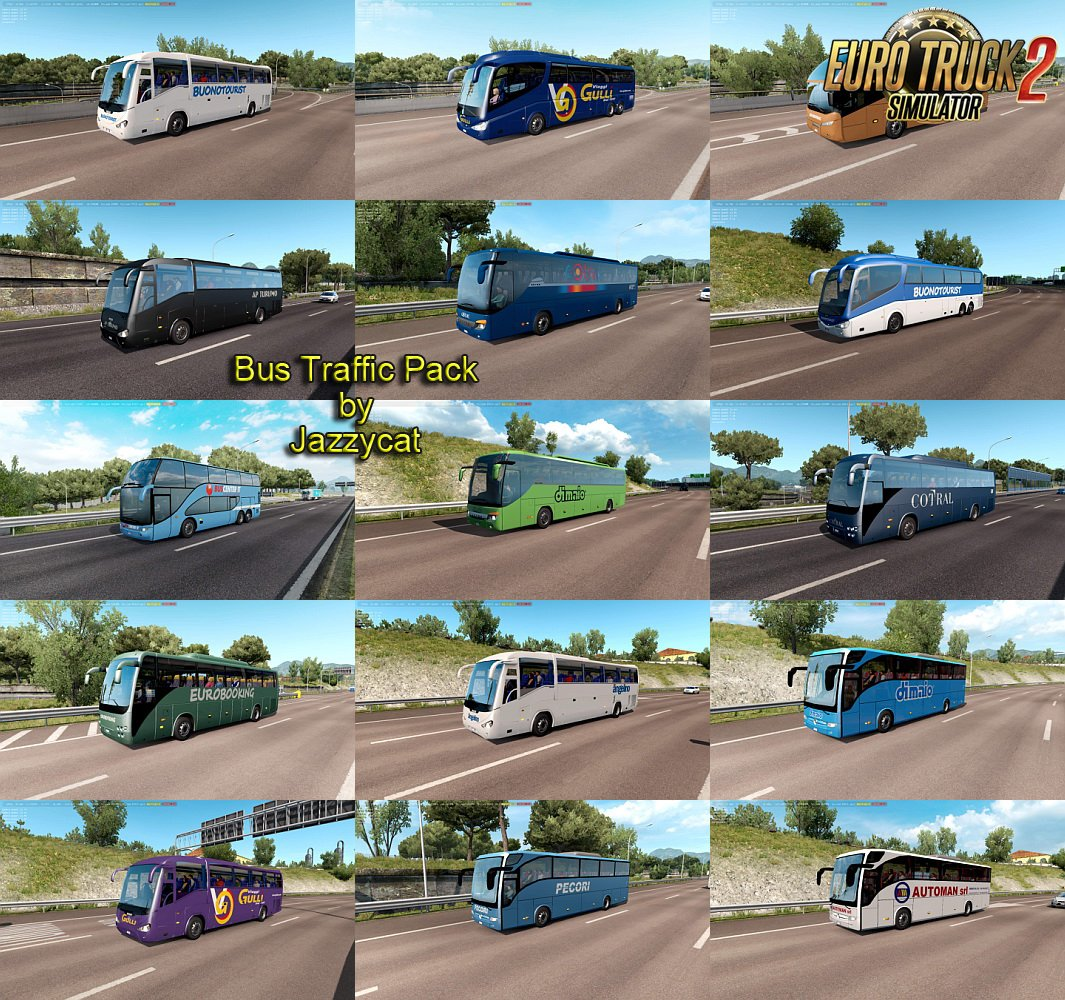 Bus Traffic Pack v5.2 by Jazzycat