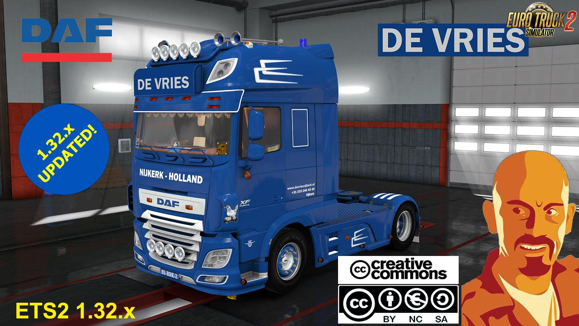 DAF XF 116 De Vries and Trailer (Recovered) for Ets2 [1.32.x]
