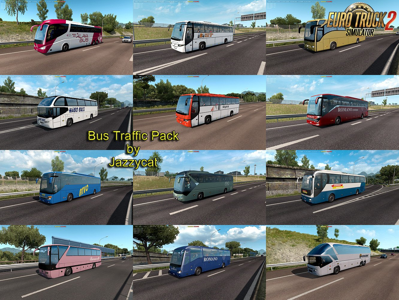 Bus Traffic Pack v5.3 by Jazzycat