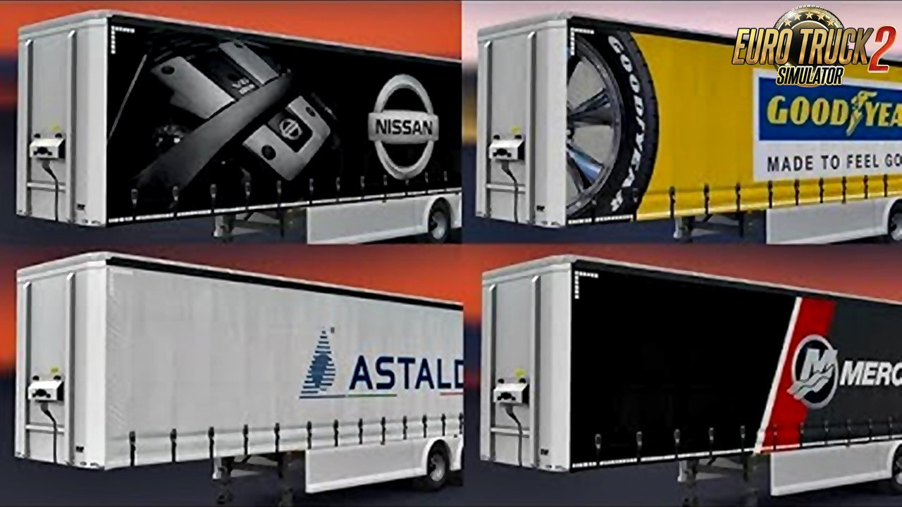TT SCS Trailers skins v1.0 for Ets2