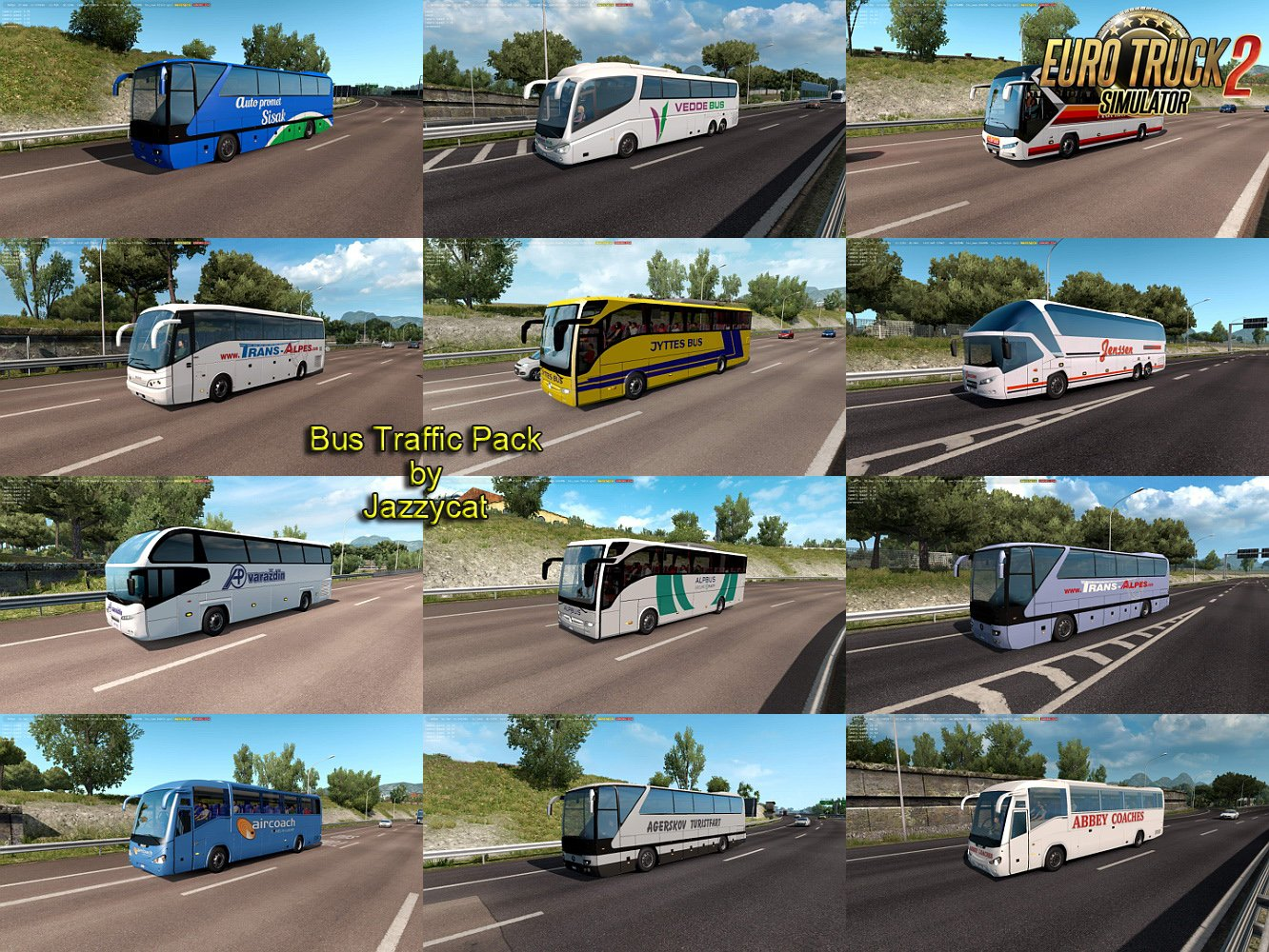 Bus Traffic Pack v5.4 by Jazzycat