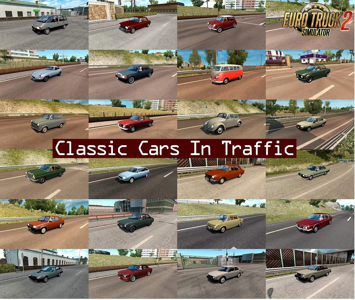Classic Cars Traffic Pack v1.9.1 by TrafficManiac (1.32.x)