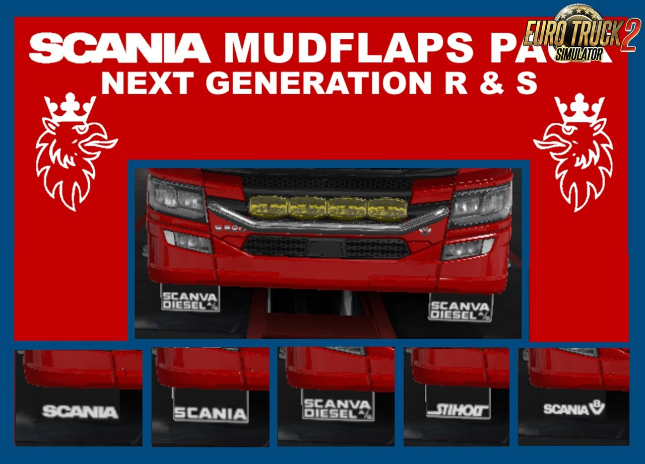 Scania 2016 R and S Mudflaps Pack v1.0 By LandyKieran