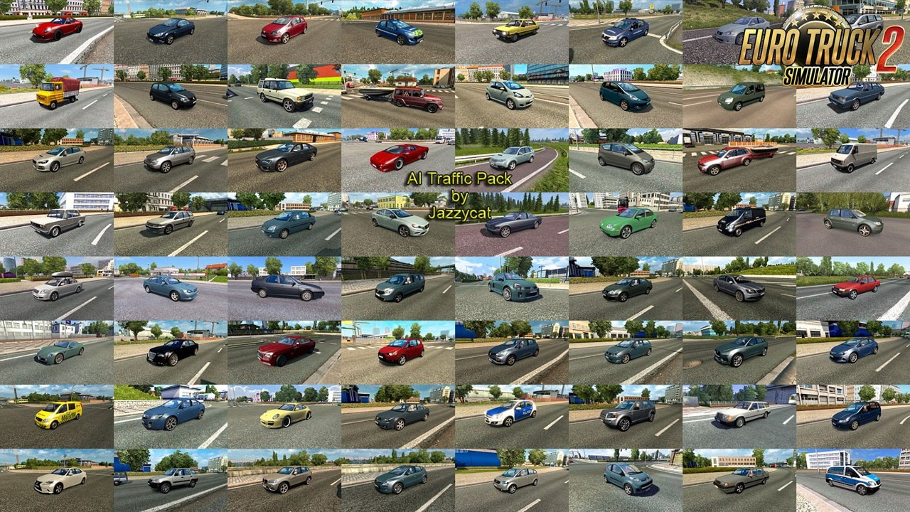 AI Traffic Pack v13 by Jazzycat (1.37.x) for ETS2