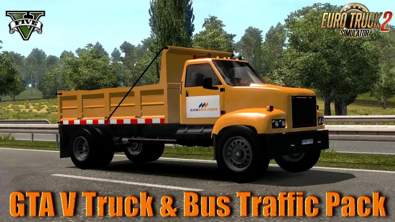 GTA V Truck & Bus Traffic Pack v1.0 (1.37.x)