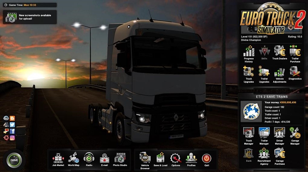 Full Save Profile for Ets2 [1.36.x]