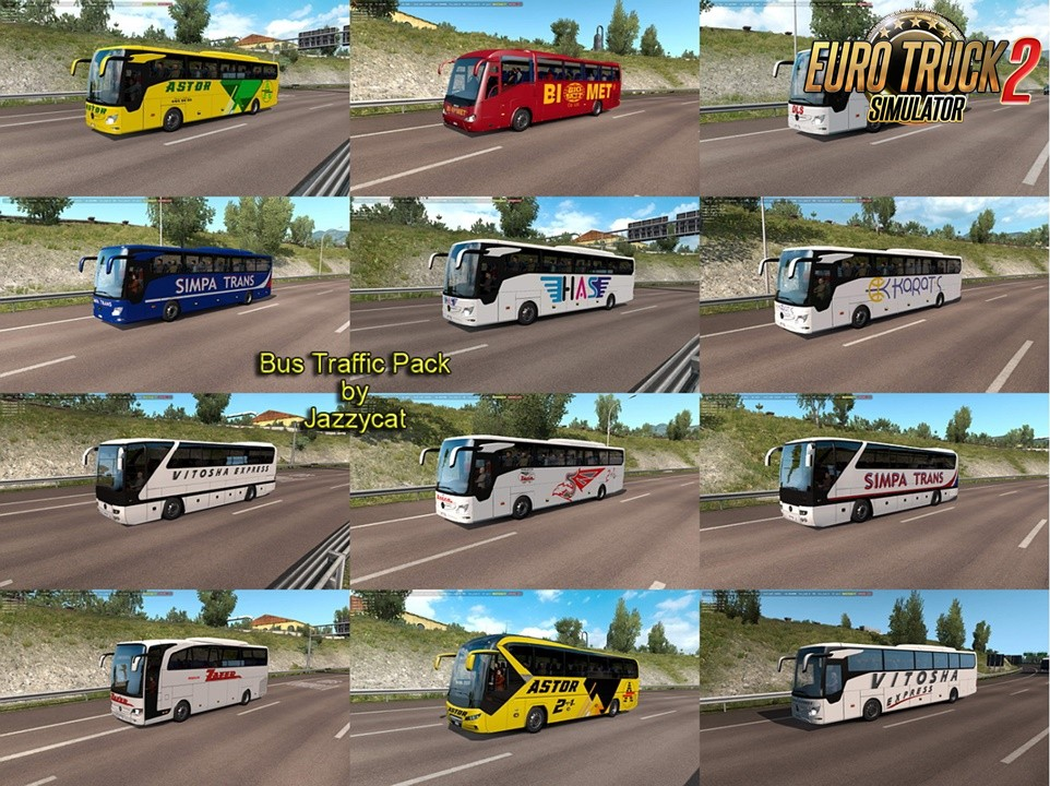 Bus Traffic Pack by Jazzycat v8.4