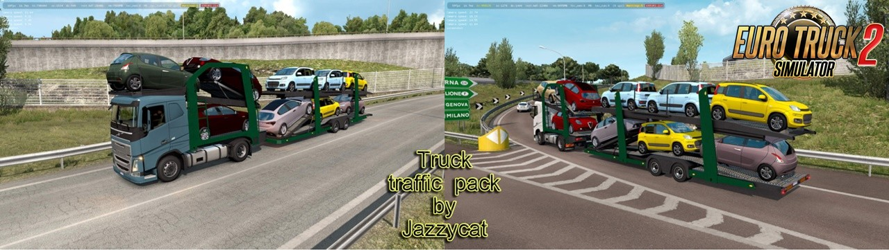 Truck Traffic Pack v3.9 by Jazzycat (1.36.x)