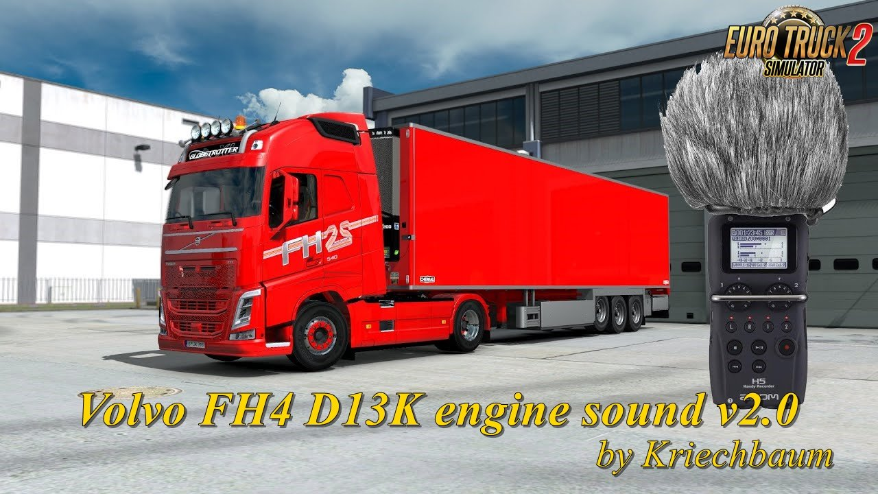 Volvo FH4 D13K engine sound v2.0