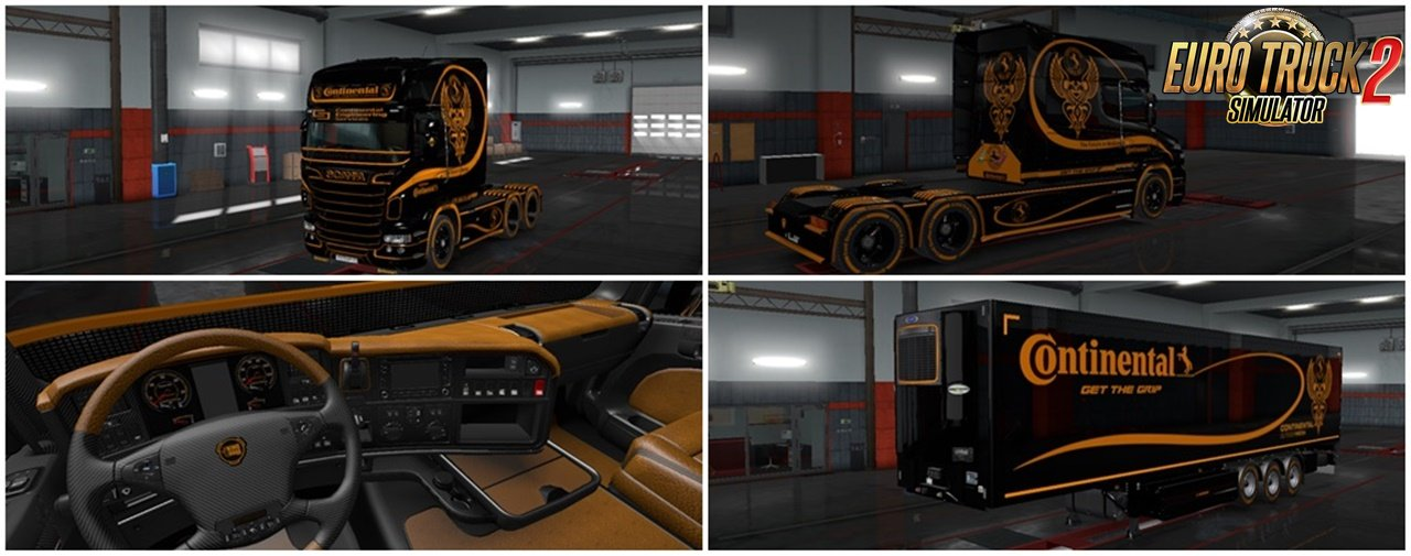 Continental Skin Pack for Scania v5.7 (1.36.x)