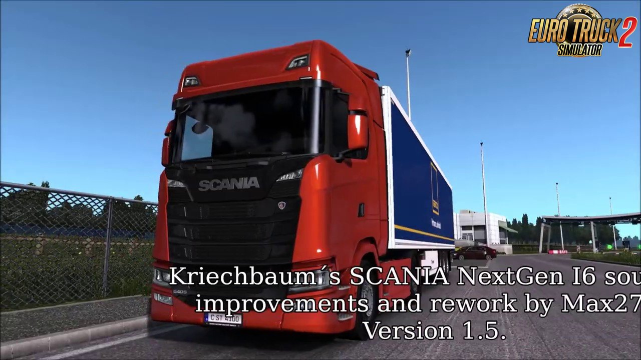 Reworked SCANIA I6 sound for the NextGen SCANIA v1.5