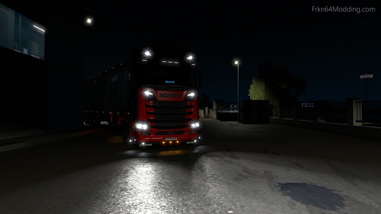 Realistic Vehicle Lights v4.3 by Frkn64 (1.35.x) for ETS2