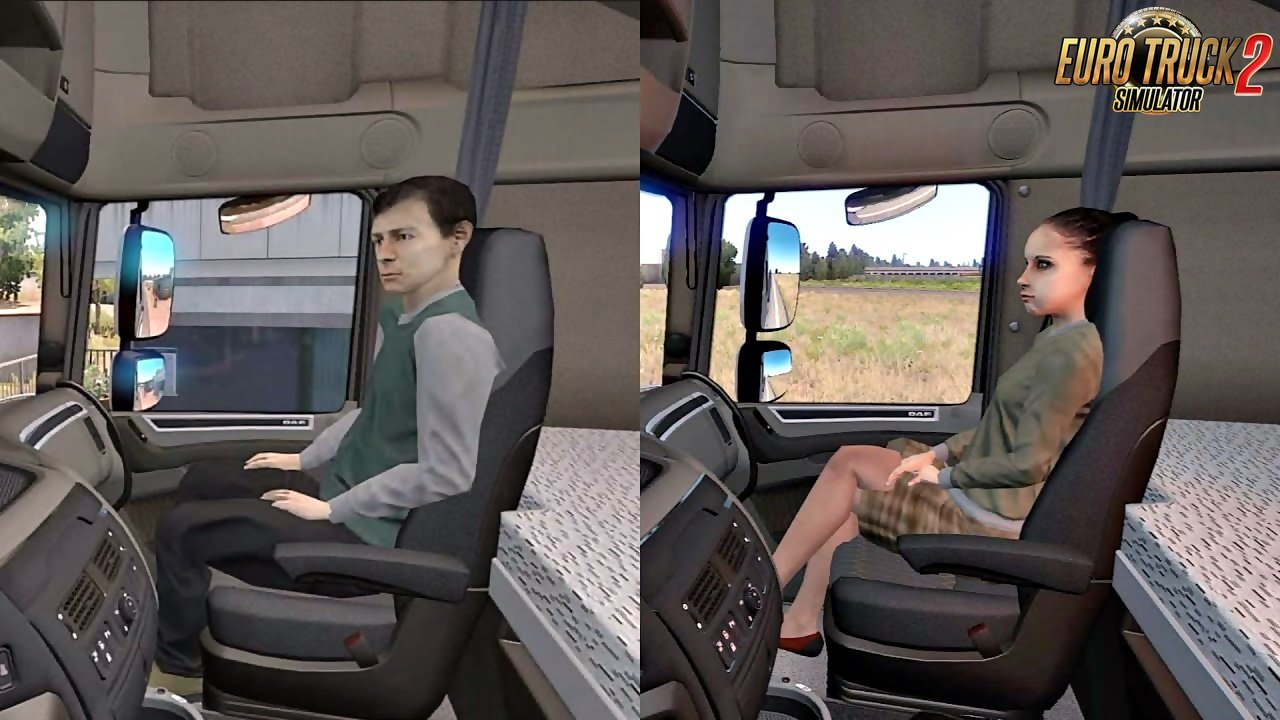 Animated passengers in truck v2.1 (1.36.x)