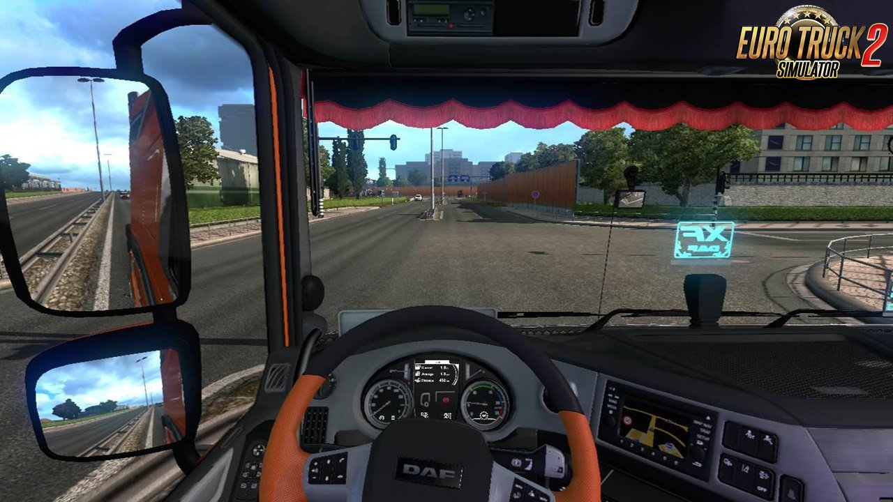Dashboard camera on glass for Ets2
