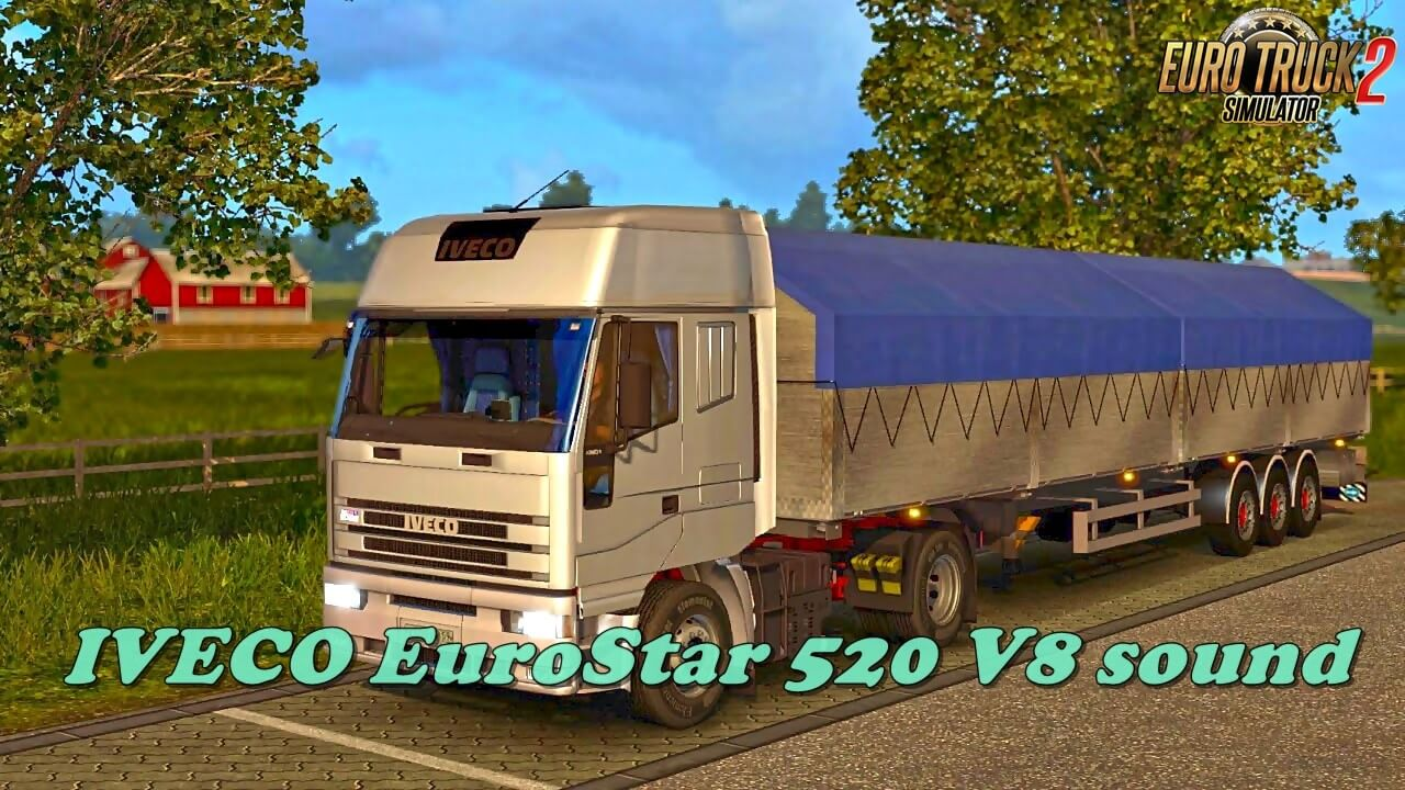 IVECO EuroStar 520 V8 sound for Ets2 (1.36.x)