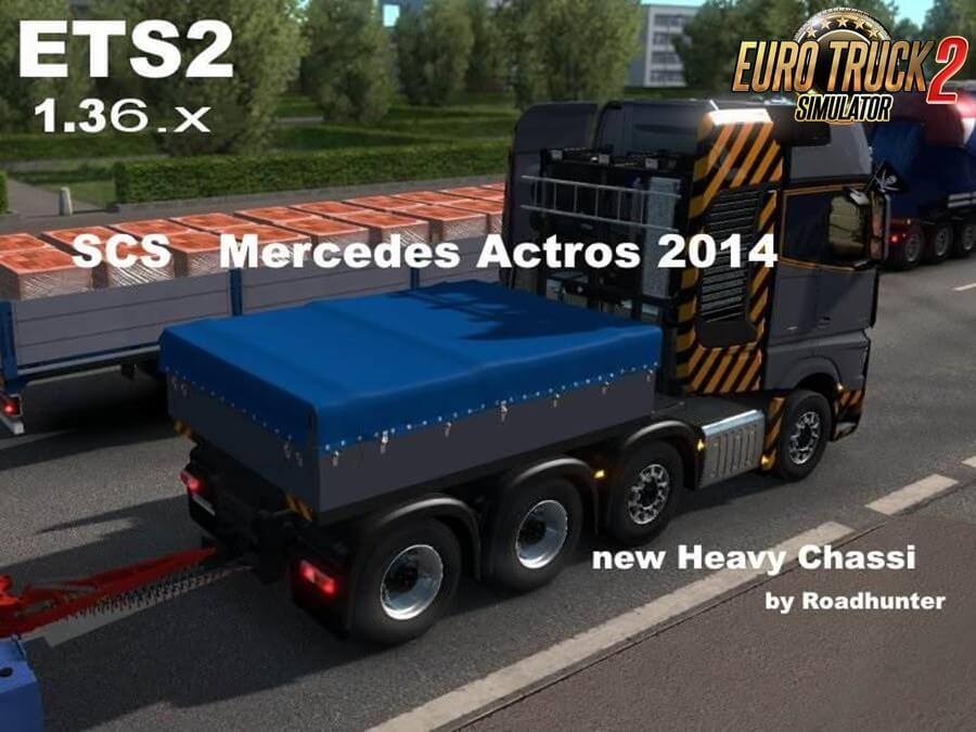 Mercedes Actros 2014 Heavy Chassi 8x4 and Trailers for Ets2
