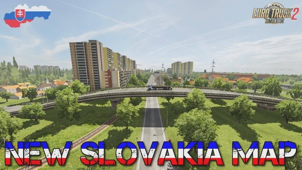 New Slovakia Map v23 by KimiSlimi - Euro Truck Simulator 2