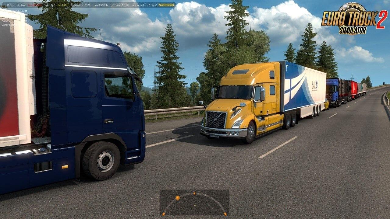 Volvo VNL 2018 truck in Traffic for Ets2