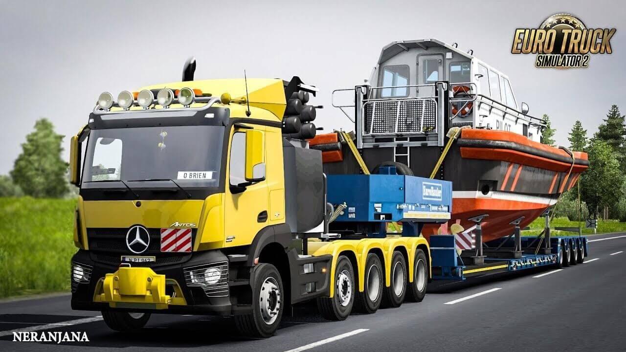 Mercedes Antos 10×6 Normal & Ballast Truck v1.0 (1.36.x)