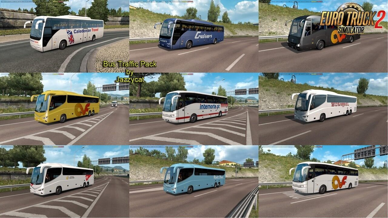 Bus Traffic Pack v9.1 by Jazzycat